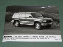"ISUZU TROOPER 3.1 DIESEL TURBO LWB CITATION factory issued 8x6"" press photo"